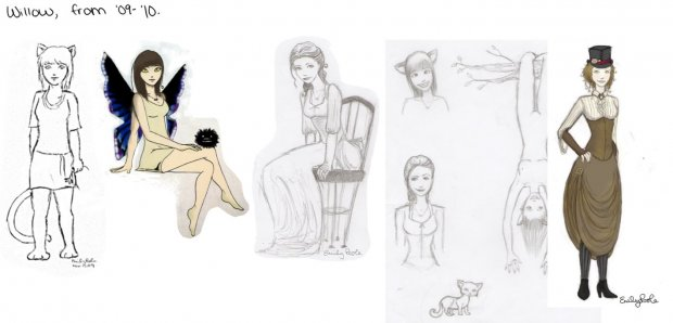 Willow drawings.