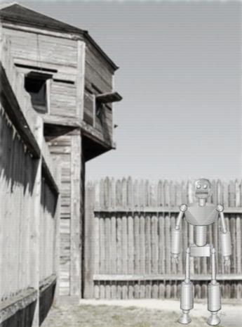 Vidfeed stillframe capture of Arthur Dent in Newhome