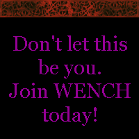 I made this small advertisement for my current clan, Wench's Experimental New Club House. I have a creeping suspicion that someone else has probably thought of this first. Oh well.