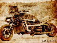 Styled version of the KittyBike, good for use as a desktop background