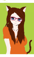 This was the first Eliza I did. She had very long brown hair I then addes the ears when she became a neko.