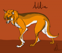 Addie in her new Wolf Form!
